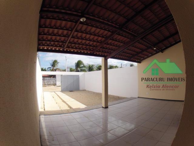 Ampla casa nova de três quartos financiada em Paracuru - Foto 14