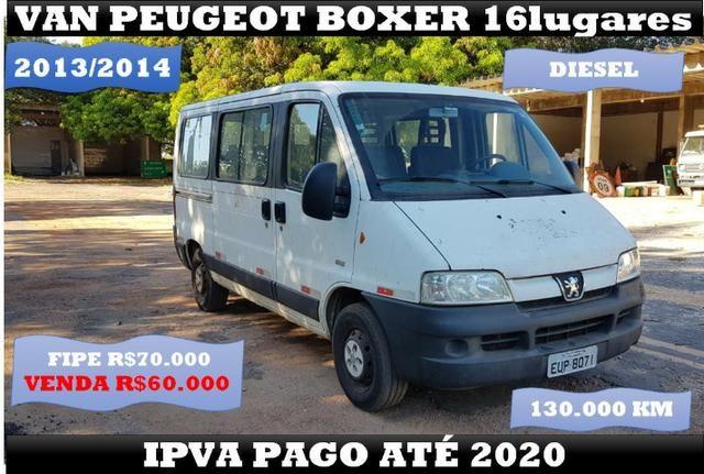 Van Peugeot Boxer 16 Lugares 2014 Ipva Pago até 2020