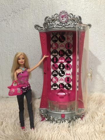 Grande Guarda Roupa Motorizado Glitterizer E Acessórios - Barbie Moda E Magia