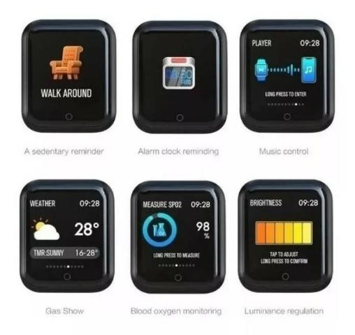 Relógio Smartwatch Sport Bracelet P70 Com Duas Pulseiras - Foto 3