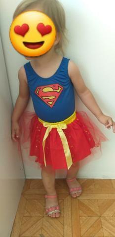 Fantasia da supergirl infantil - Foto 2