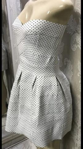 Vestido Poás, rodado, tomara que caia, anos 60, lindo, tamanho 44 - Foto 5