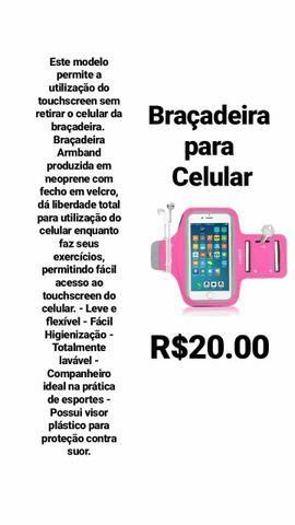 Braçadeira suporte para celular - Foto 3