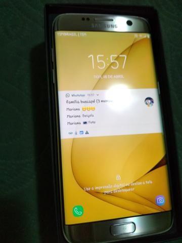 8424b56f2 Samsung Galaxy S7 Edge dourado zero - Celulares e telefonia - Centro ...