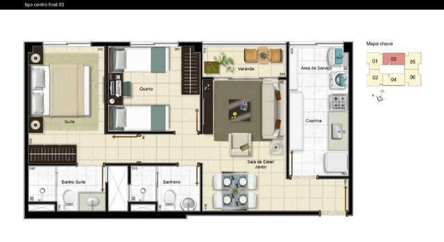 Residencial porto belo lindo apartamento de 2 quartos na samambaia use seu fgts na entrada - Foto 4