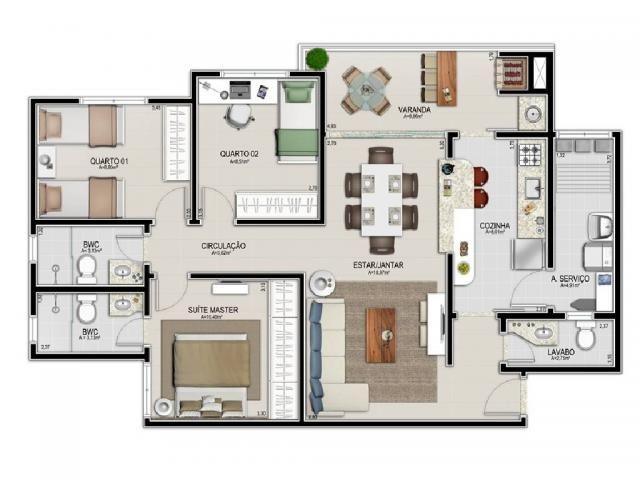 Apartamento à venda com 3 dormitórios em Jardim bom clima, Cuiaba cod:20355 - Foto 5
