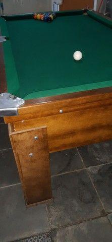 Mesa de sinuca tampo em pedra ardósia  - Foto 2