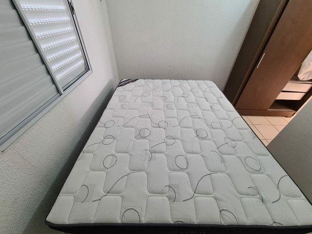 Conjunto cama Box casal Queen Ortobom Pró-Saúde Pró-Força