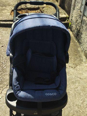 Carrinho bebê conforto completo marca cosco - Foto 2
