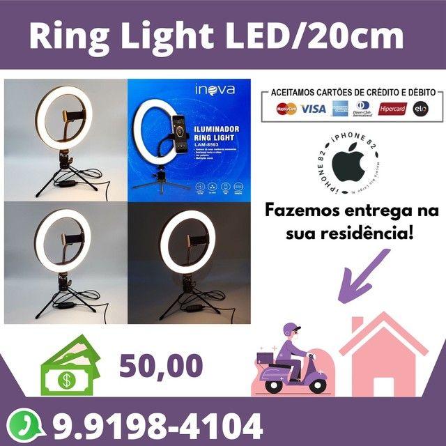 Ring Light Led 20cm + Tripé de mesa