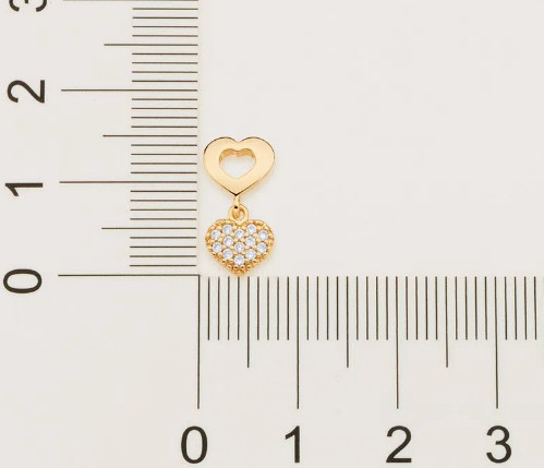 Brinco Rommanel folheado a ouro com zircônias  - 525714 - Foto 3