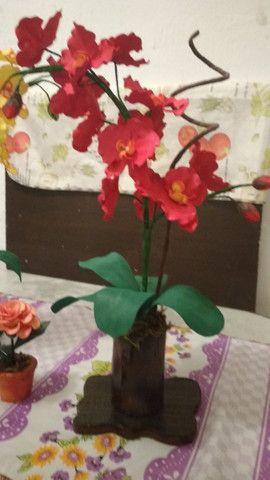 Orquidias e flores em E V A - Foto 3