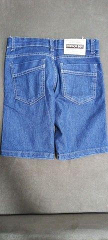 Bermudas jeans e preta infantil - Foto 4