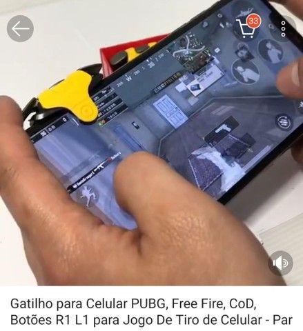 Gatilhos para jogos em celular free fire e pubg - Foto 2