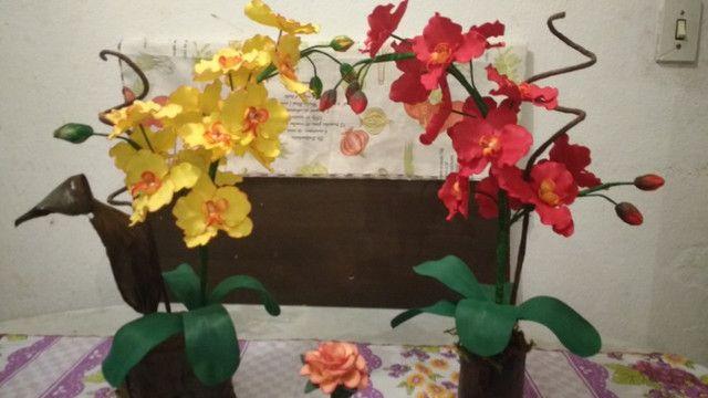 Orquidias e flores em E V A - Foto 2