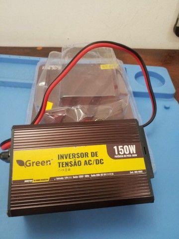 Inversor veicular 12V p/ 220V 150W, com Tomada USB 5V 2,1A.