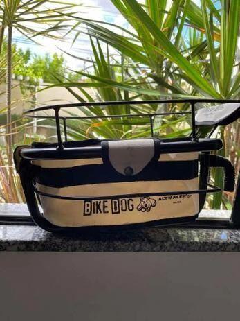Cadeirinha Cestinha Bege Bike Dog Usada  - Foto 2