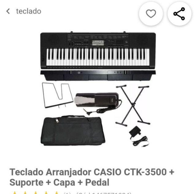 Teclado Cássio Ctk 3500 - Foto 5