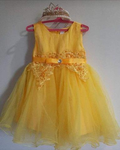 Vestido de festa +tiarinha coroa Tam 12 à 24  - Foto 2