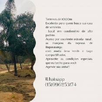 Lote/Terreno para venda tem 1000 metros quadrados em Carafá - Votorantim - SP
