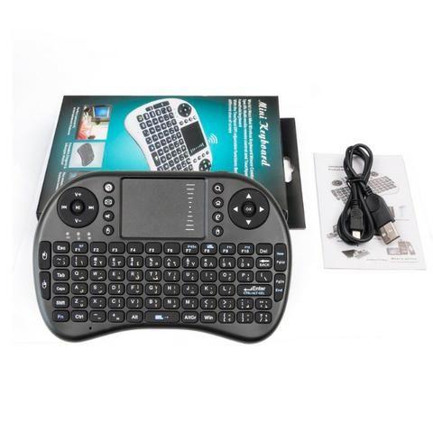 Mini Teclado Sem Fio Smart Tv Box Media Player Pc Videogame - Foto 2