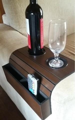 Porta copos em madeira zap 993228269