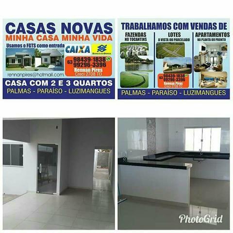 Casas novas pela minha. prontas ou na construção com desconto de 10 Mil reais