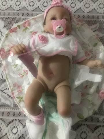Boneca Realista Reborn Silicone Recém-nascido - Unidade - Foto 5