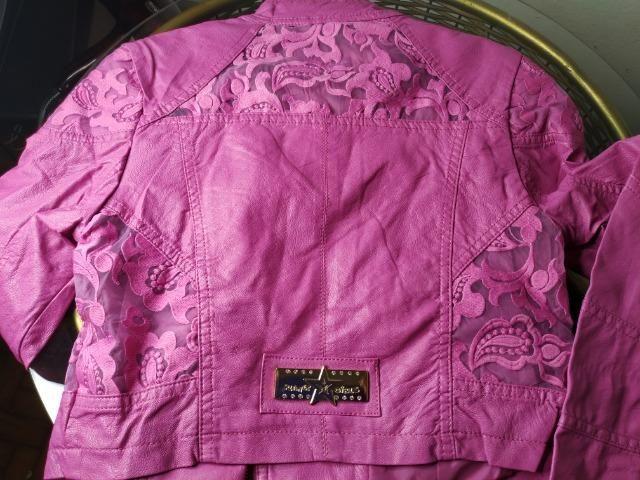 Jaqueta Planet Girl Pink Bordada - Foto 5