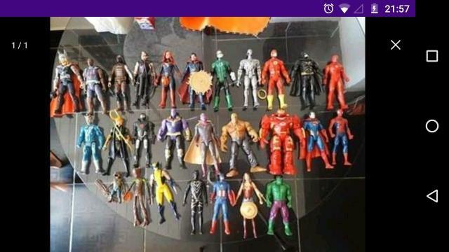 Coleção de Bonecos Marvel e DC