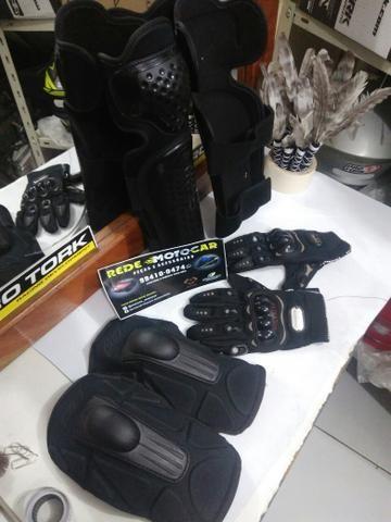 Kit proteção TITANIUM motociclista * zaap - Foto 3