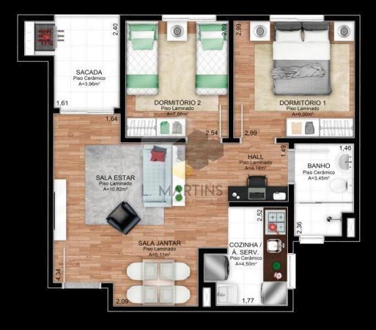 Apartamento para venda em novo hamburgo, rondônia, 2 dormitórios, 1 banheiro, 1 vaga - Foto 9