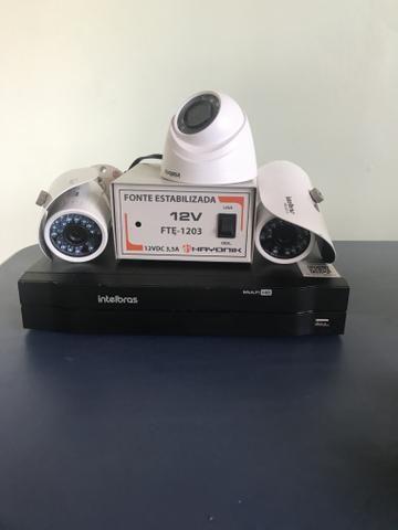 DVR, Câmeras e fonte
