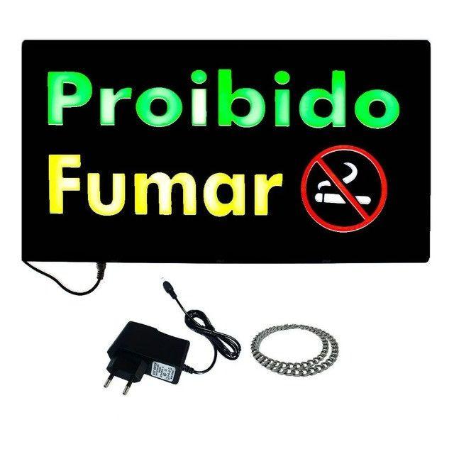 Painel de led que pisca de banheiro e de proibido fumar - Foto 4