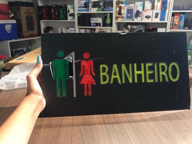 Painel de led que pisca de banheiro e de proibido fumar - Foto 3