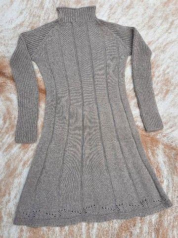 Vestido manga longa de tricot