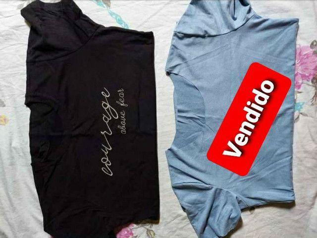 Vendo esta camiseta feminina por 25 reais. Esta baby look. 100%Algodão. Por 32 reais!