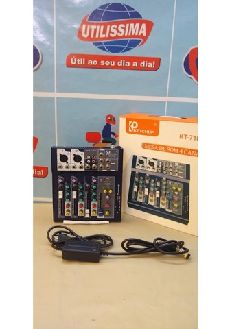 Mesa de som Bluetooth 4 canais  LE-708  -Entrega Grátis  - Foto 4