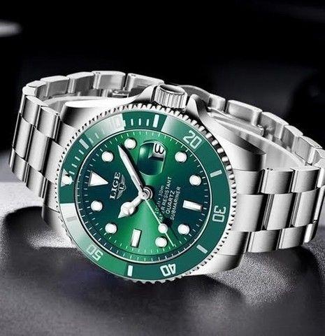 Relógio Masculino Lige 10045 Luxo Original Top Super Oferta - Foto 3