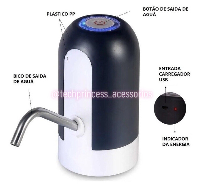 Bomba elétrica para garrafão de água  - Foto 2
