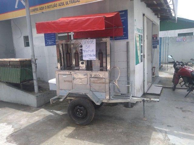 Vendo carrinho de chauarma,choripan churrasco grego. - Foto 3