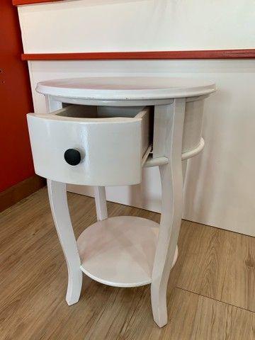 Mesa Rústica Decorativa Branca - Foto 5