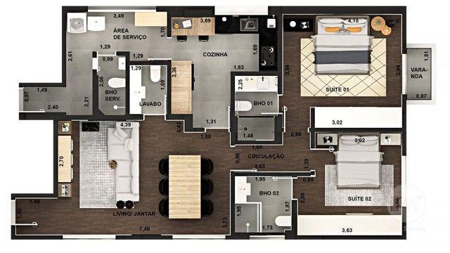 Itaim Nobre, 105 m² úteis, 2 suítes, 2 vagas. - Foto 12
