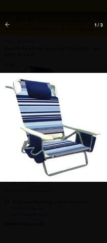 Cadeira De Praia Reclinável Com Bolsa Térmica - Foto 2