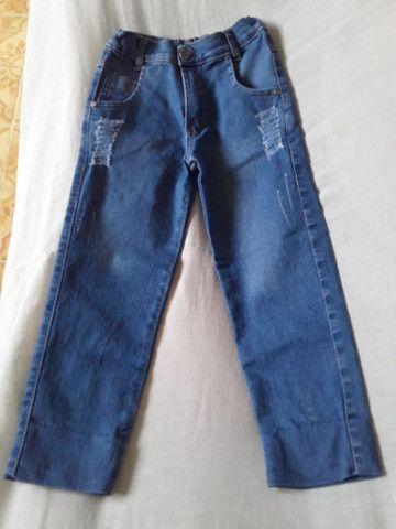 Calça jeans infantil com regulador na cintura - Foto 2