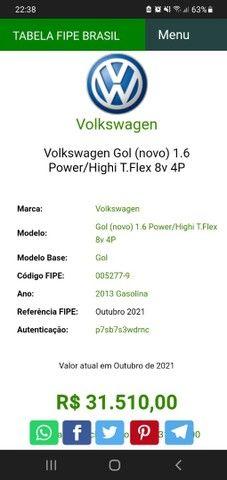 VW Novo Gol Power 1.6 2013 Completo - Sem Trocas - Foto 6
