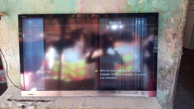 """TV Sony 49"""" defeito no display"""