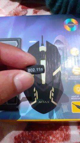 Teclado gamer básico ( ler o anúncio) E receptor de Wifi usb - Foto 6
