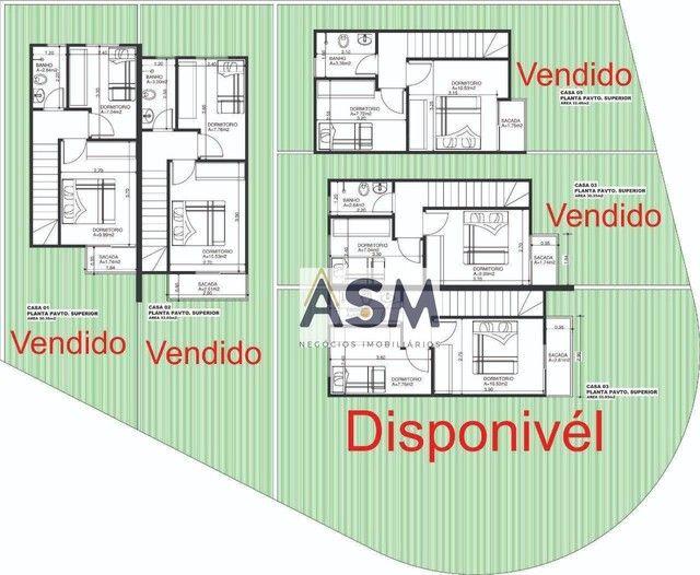 Sobrado 66m² de esquina, diferenciado, 2 dormitórios, Passo Manso-Blumenau - Foto 8