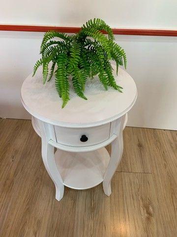 Mesa Rústica Decorativa Branca - Foto 6